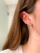 Load image into Gallery viewer, Diamond Dagger Earrings