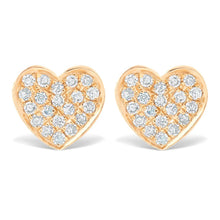 Load image into Gallery viewer, Mini Pave Diamond Heart Earrings