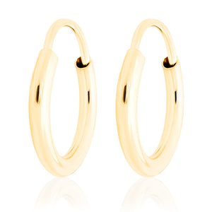 "14k Gold Mini Hoops-1/4"" Diameter"