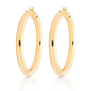 "14k Gold Hoops-1.5"" Diameter"