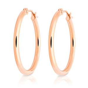 "14k Gold Hoops-7/8"" Diameter"