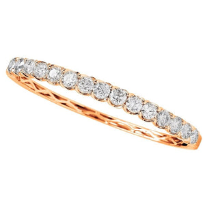 Hinged Oval Round Diamond 1/2 Way Bangle