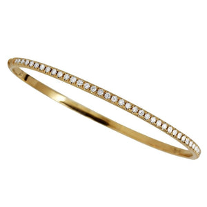 One Row 1/2 Way Diamond Bangle