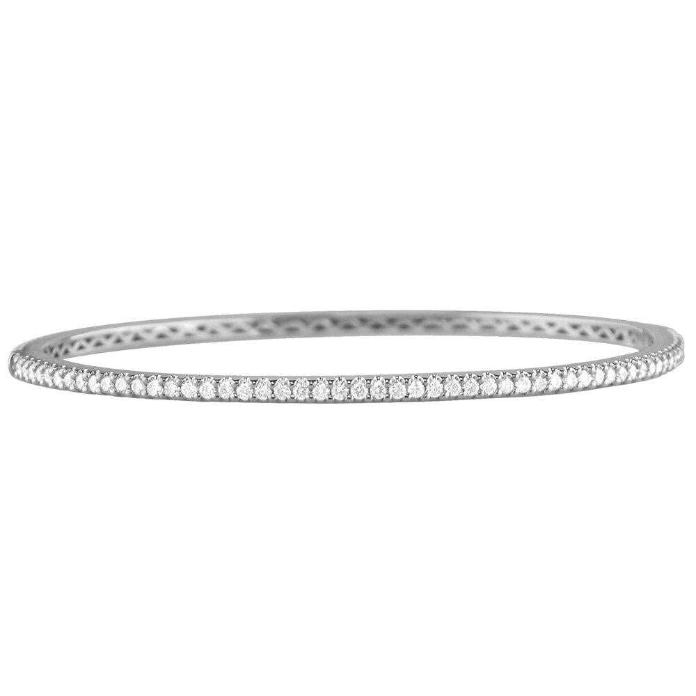 One Row Diamond Eternity Bangle