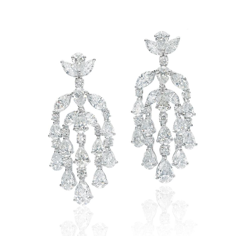 Fancy Cut Chandelier Diamond Earrings