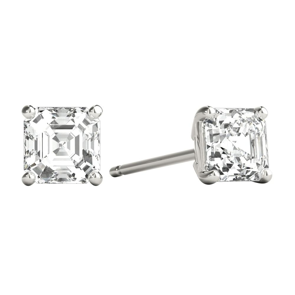 Asscher Cut Diamond Studs
