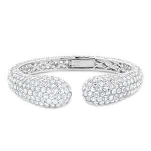 White Gold Diamond Rose Cut Bangle