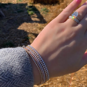 Dainty Diamond Tennis Bracelet