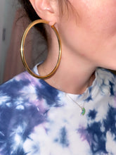 "Load image into Gallery viewer, Large Thick 3"" Gold Hoops"