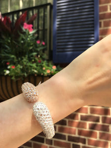 Two Tone Rose Cut Diamond Cuff