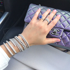 Diamond Snake Wrap Bracelet