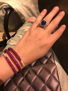 Ruby and Diamond Snake Wrap Bracelet