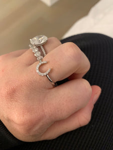 Diamond Horse Shoe Ring