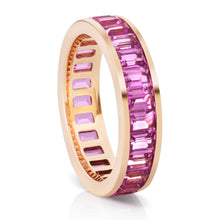 Load image into Gallery viewer, Pink Sapphire Channel Set Eternity Band.