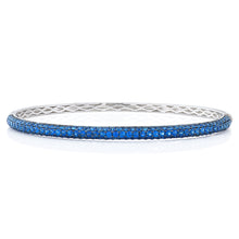 Load image into Gallery viewer, Three Row Sapphire Bangle