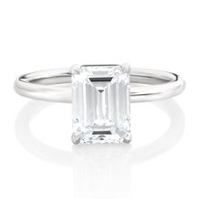 Load image into Gallery viewer, Emerald Cut Diamond Solitaire Engagement Ring