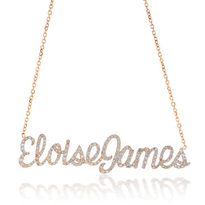 Double Name Diamond Necklace