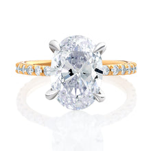 Load image into Gallery viewer, Two Tone Diamond Engagement Ring