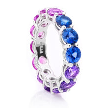 Load image into Gallery viewer, Ombre Sapphire Band