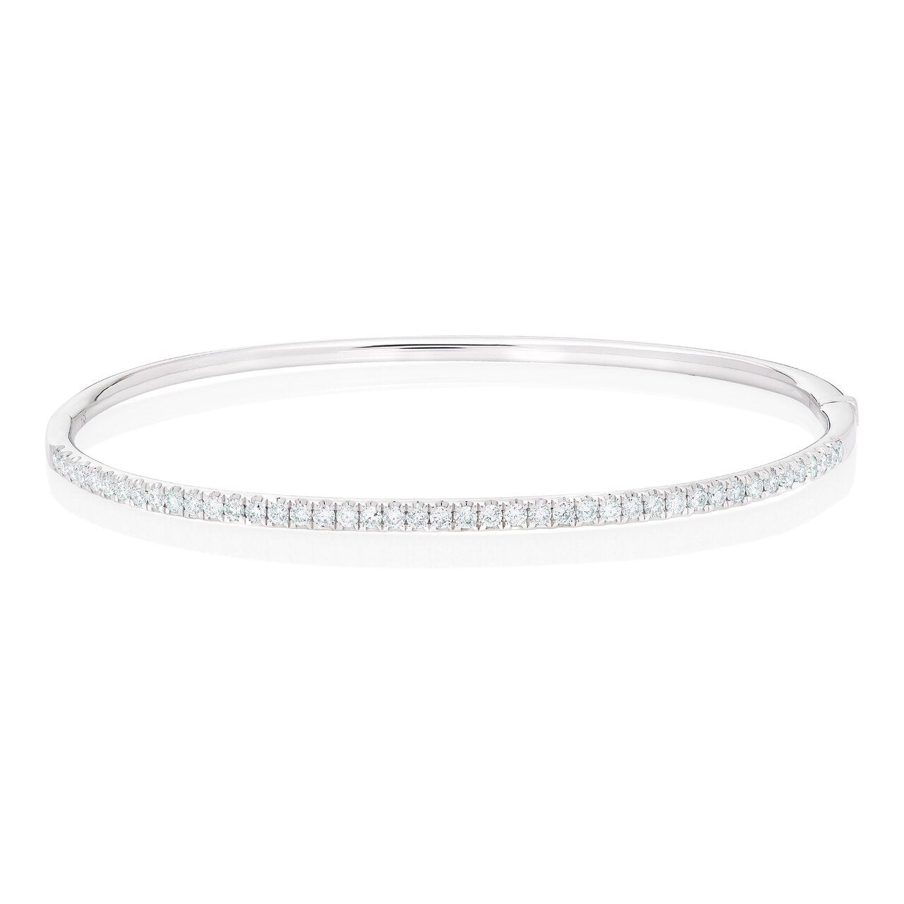 Diamond Half Way Oval Bangle