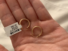 Load image into Gallery viewer, Rose Gold 2MM Wide Mini Hoops
