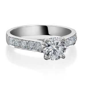 Round Brilliant Cut Channel Set Engagement Ring