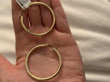Load image into Gallery viewer, Yellow Gold 3MM Hoops