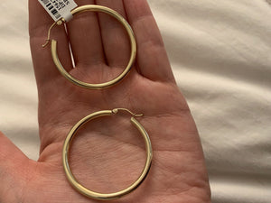 Yellow Gold 3MM Hoops