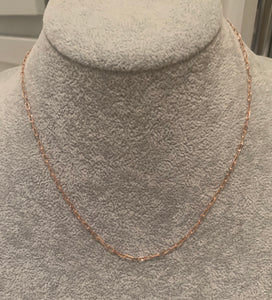 Gold Flat Chain Necklace