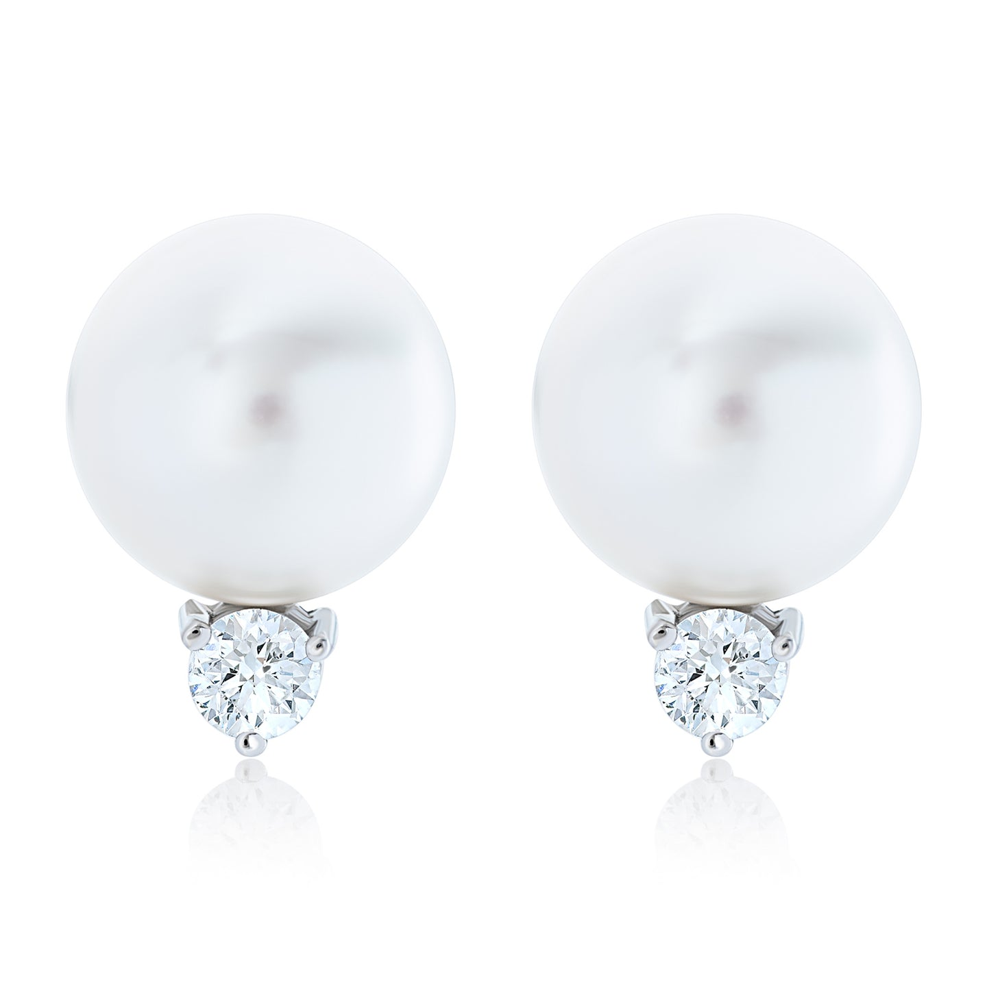 Pearl and Diamond Goddess Earrings