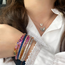 Load image into Gallery viewer, Rainbow Ombre and Diamond Bracelet