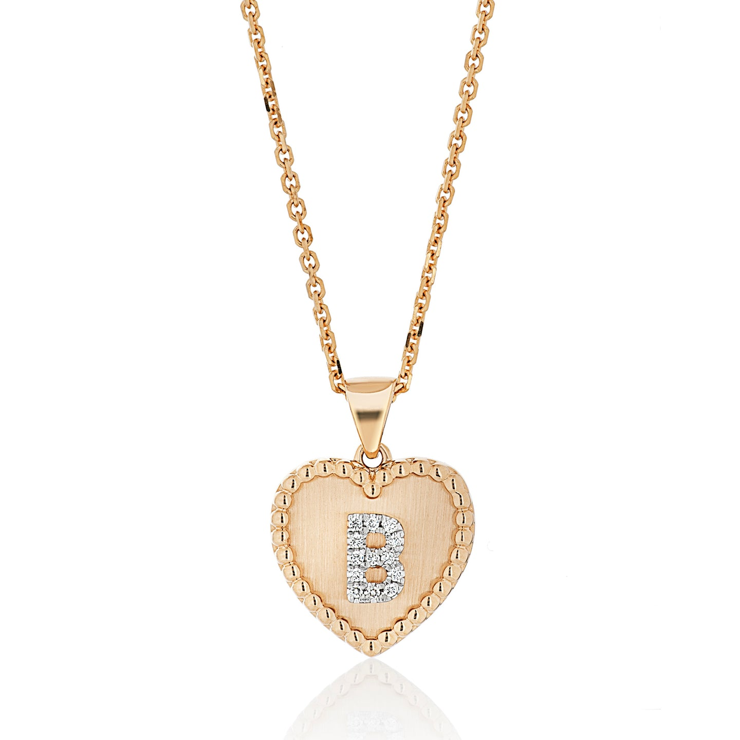 All Gold and Diamond Single Initial Pendant