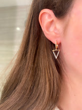 Load image into Gallery viewer, Triangle Diamond Dangle Earrings
