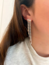 Load image into Gallery viewer, Diamond 5 Strand Ear Climber Earrings