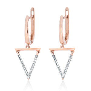 Triangle Diamond Dangle Earrings