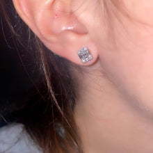 Load image into Gallery viewer, Diamond Illusion Stud Earrings