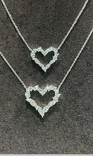 Load image into Gallery viewer, Small Mixed Cut Diamond Heart Necklace