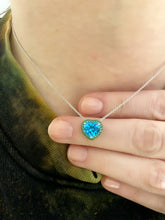Load image into Gallery viewer, Tsavorite and Swiss Blue Topaz Pendant