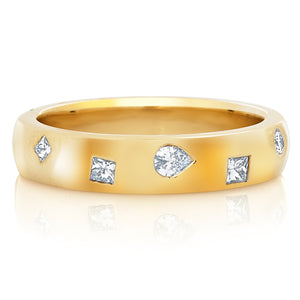Scattered Fancy Cut Diamond Cigar Band