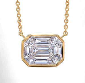 Bezel Set Diamond Illusion Pendant