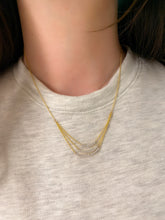 Load image into Gallery viewer, Triple Curve Diamond Necklace