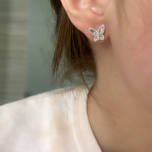 Petite Diamond Butterfly Earrings