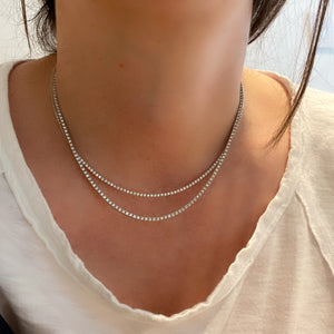Dainty 1 Eternity Diamond Tennis Necklace
