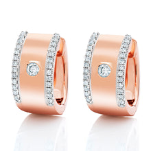 Load image into Gallery viewer, Modern Diamond Huggie Earrings