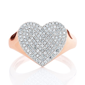 Chunky Diamond Heart Ring