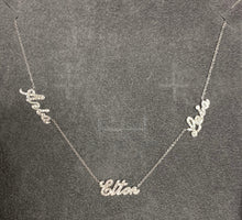 Load image into Gallery viewer, Diamond Name Necklace