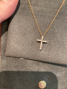 Small Diamond Cross Pendant