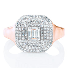 Load image into Gallery viewer, Diamond Square Shape Signet Ring
