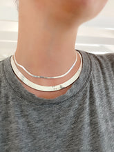 Load image into Gallery viewer, Silver 8.75mm Wide Herringbone Necklace