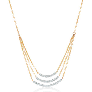Triple Curve Diamond Necklace